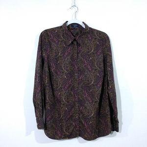 Chaps Women's Paisley Buttondown Shirt